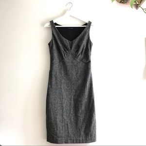 Black halo grey&black Heathered fitted mini dress